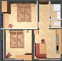 Skizze Apartment 2